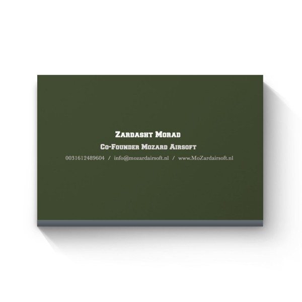 Mozard Airsoft Business Cards